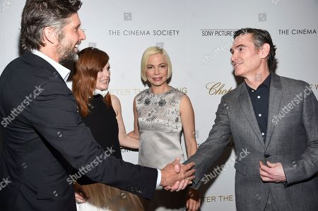 "Bart Freundlich, Julianne Moore, Michelle Williams, Billy Crudup. Director Bart Freundlich, left, actor Julianne Moore, actor Michelle Williams and actor Billy Crudup attend a special screening of ""After the Wedding"", hosted by Chopard with Sony Pictures Classics and The Cinema Society, at the Regal Essex, in New York"