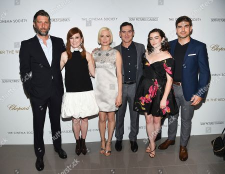 "Bart Freundlich, Julianne Moore, Michelle Williams, Billy Crudup, Abby Quinn, Alex Esola. Director Bart Freundlich, left, poses with actors Julianne Moore, Michelle Williams, Billy Crudup, Abby Quinn and Alex Esola at a special screening of ""After the Wedding"", hosted by Chopard with Sony Pictures Classics and The Cinema Society, at the Regal Essex, in New York"