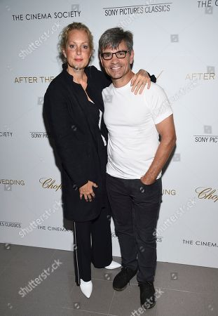 """Ali Wentworth, George Stephanopoulos. Actress Ali Wentworth, left, and husband, journalist George Stephanopoulos, attend a special screening of """"After the Wedding"""", hosted by Chopard with Sony Pictures Classics and The Cinema Society, at the Regal Essex, in New York"""