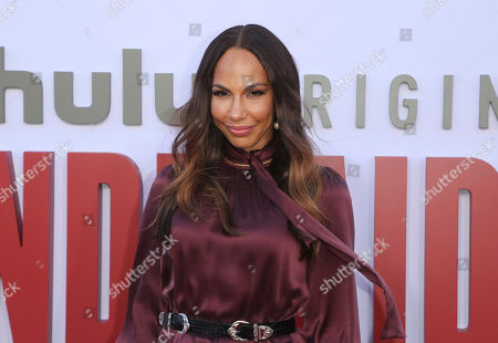 """Amanda Brugel attends the """"The Handmaid's Tale"""" season three finale red carpet at the Regency Village Theatre], in Los Angeles"""