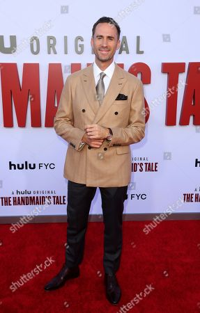 "Joseph Fiennes attends the ""The Handmaid's Tale,"" Season 3 finale red carpet at the Regency Village Theatre, in Los Angeles"