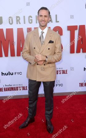 "Joseph Fiennes attends the ""The Handmaid's Tale"" season three finale red carpet at the Regency Village Theatre], in Los Angeles"