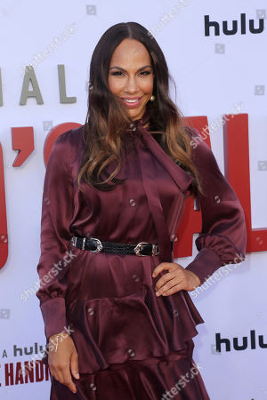 "Amanda Brugel attends the ""The Handmaid's Tale"" season three finale red carpet at the Regency Village Theatre], in Los Angeles"