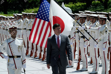 Editorial picture of US Secretary of Defense Mark Esper visits Japan, Tokyo - 07 Aug 2019