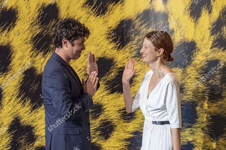 Riccardo Scamarcio (L) and actress Alba Rohrwacher (R) from Italy poses during the photocall for the film Magari at the 72nd Locarno International Film Festival in Locarno, Switzerland, 07 August 2019. The Festival del film Locarno runs from 07 to 17 August 2019.