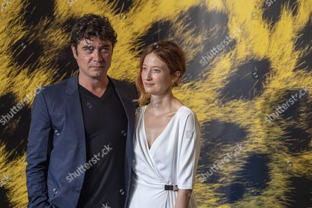 Riccardo Scamarcio (L) and actress Alba Rohrwacher (R) from Italy pose during the photocall for the film Magari at the 72nd Locarno International Film Festival in Locarno, Switzerland, 07 August 2019. The Festival del film Locarno runs from 07 to 17 August 2019.