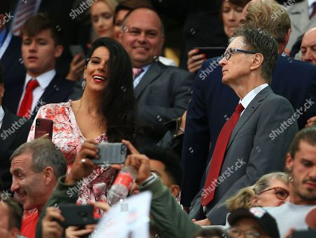 Stock Picture of Liverpool owner John W Henry with his wife Linda Pizzuti in the stand