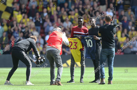 Danny Welbeck and Ismaila Sarr of Watford  are unveiled as new signings