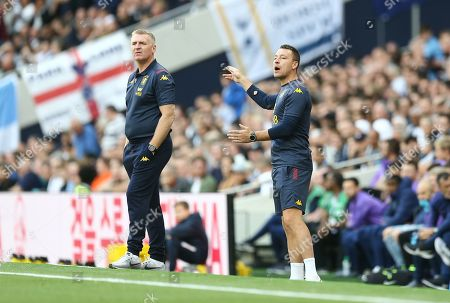 John Terry assistant head coach of Aston Villa and Dean Smith manager of Aston Villa