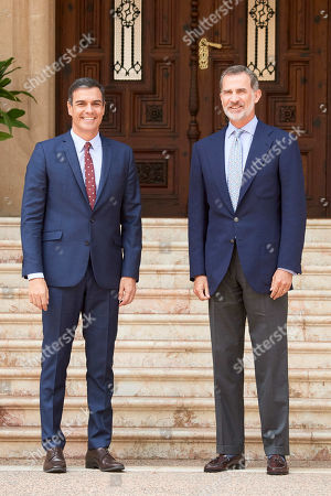 King Felipe VI of Spain meets with Spanish Prime Minister Pedro Sanchez, Palma de Mallorca