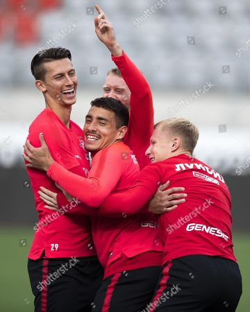 Editorial picture of Spartak Moscow training, Thun, Switzerland - 07 Aug 2019
