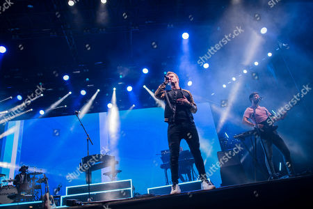 Steve Garrigan of the Irish rock band Kodaline performs during their concert at the 27th Sziget (Island) Festival on Shipyard Island, Northern Budapest, Hungary, on the first day of the event, 07 August 2019. The festival is one of the biggest cultural events of Europe offering art exhibitions, theatrical and circus performances and above all music concerts in seven days. It is running between 07 and 14 August.