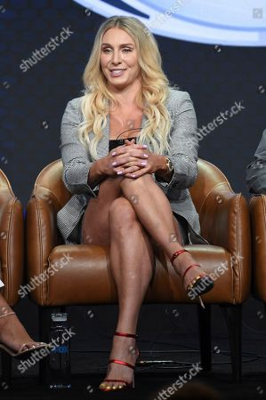 "Charlotte Flair participates in Fox Sports' ""Rallying Fans for the Biggest Season in Sports"" panel at the Television Critics Association Summer Press Tour, in Beverly Hills, Calif"