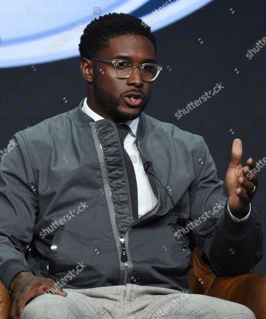 """Reggie Bush participates in Fox Sports' """"Rallying Fans for the Biggest Season in Sports"""" panel at the Television Critics Association Summer Press Tour, in Beverly Hills, Calif"""
