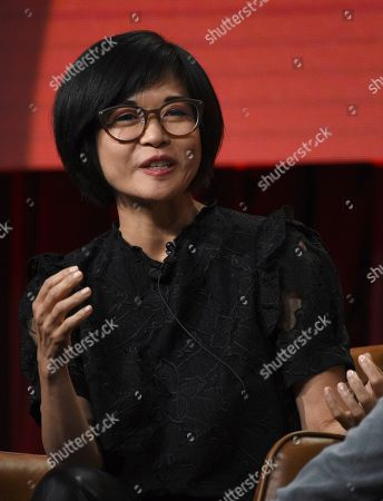 """Keiko Agena participates in Fox's """"Prodigal Son"""" panel at the Television Critics Association Summer Press Tour, in Beverly Hills, Calif"""