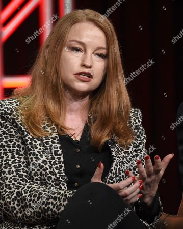 """Stock Picture of Sarah Schechter participates in Fox's """"Prodigal Son"""" panel at the Television Critics Association Summer Press Tour, in Beverly Hills, Calif"""