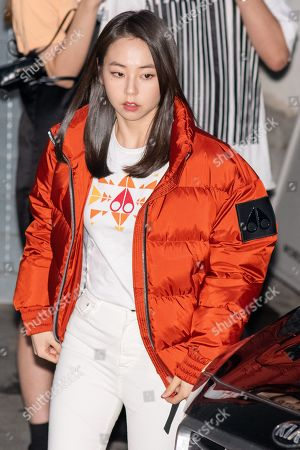Stock Photo of Ahn So-hee, former member of the girl group Wonder Girls