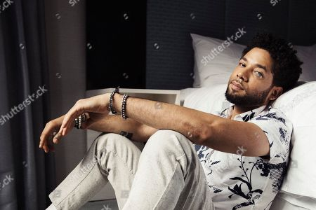 "Jussie Smollett, from the Fox series, ""Empire,"" posing for a portrait in New York. Fox Entertainment chief Charlie Collier says Jussie Smollett won't be back on ""Empire."" Collier, speaking to TV critics Wednesday, affirmed series co-creator Lee Daniels' decision to drop Smollett from the drama's upcoming final season"