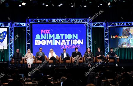 Mike Scully, Julie Scully, Ty Burrell, Amy Poehler, Michael Thorn, Ike Barinholtz, Emily Spivey, Phil Lord and Chris Miller