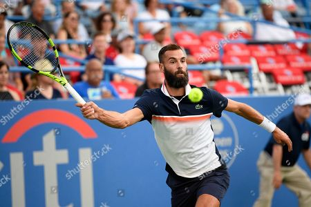 Kevin Anderson, Alexander Zverev. Benoit Paire, of France, competes during a match against Stefanos Tsitsipas, of Greece, in the Citi Open tennis tournament, in Washington