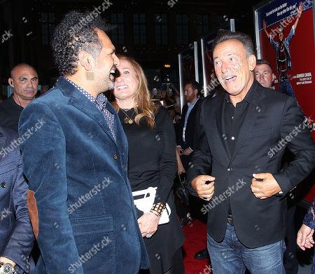 Sarfraz Manzoor, Patti Scialfa and Bruce Springsteen