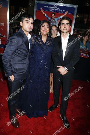 Aaron Phagura, Gurinder Chadha, director and Viveik Kaira