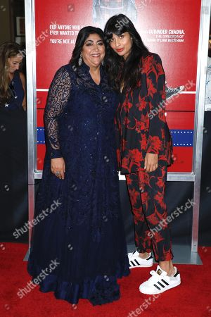 Gurinder Chadha, director and Jameela Jamil