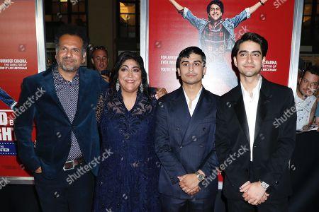 Sarfraz Manzoor, Gurinder Chadha, director, Aaron Phagura and Viveik Kaira