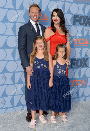 Stock Picture of Ian Ziering, Erin Kristine Ludwig, Mia Loren Ziering and Penna Mae Ziering