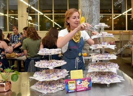 Christina Tosi unveils a custom recipe made with new NESTLÉ TOLL HOUSE Unicorn Morsels, Unicorn Birthday Fudge, a fun treat that brings extra magic to any occasion, in New York