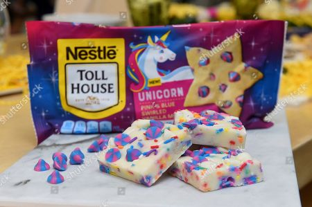 Stock Picture of Christina Tosi partnered with NESTLÉ TOLL HOUSE to create Unicorn Birthday Fudge, a colorful, no-bake sweet treat featuring NESTLÉ TOLL HOUSE Unicorn Morsels and NESTLÉ TOLL HOUSE Premier White Morsels, in New York