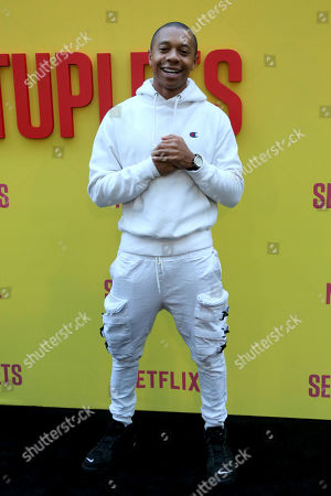 """DeRon Horton attends the LA Premiere of """"Sextuplets"""" at the Arclight Hollywood, in Los Angeles"""