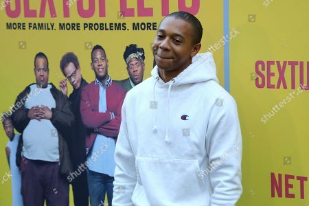 """Stock Photo of DeRon Horton attends the LA Premiere of """"Sextuplets"""" at the Arclight Hollywood, in Los Angeles"""