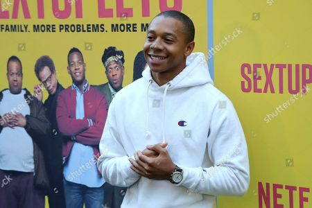 """Stock Picture of DeRon Horton attends the LA Premiere of """"Sextuplets"""" at the Arclight Hollywood, in Los Angeles"""