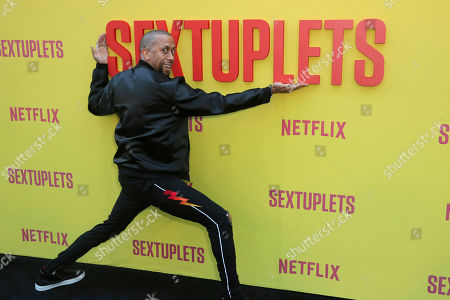 """Affion Crockett attends the LA Premiere of """"Sextuplets"""" at the Arclight Hollywood, in Los Angeles"""