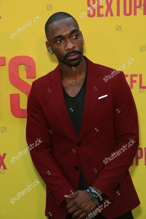 "Stock Image of Jay Pharoah attends the LA Premiere of ""Sextuplets"" at the Arclight Hollywood, in Los Angeles"