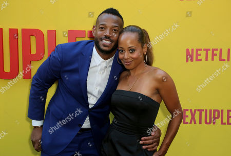 "Marlon Wayans, Essence Atkins. Marlon Wayans, left, and Essence Atkins attend the LA Premiere of ""Sextuplets"" at the Arclight Hollywood, in Los Angeles"