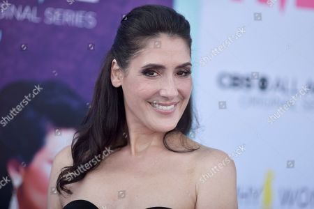"Alicia Coppola attends the LA premiere of ""Why Women Kill"" at the Wallis Annenberg Center for the Performing Arts, in Beverly Hills, Calif"