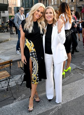 Stock Picture of Jenny McCarthy and Meredith Vieira