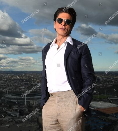 Shah Rukh Khan poses for photos at Collins Place in Melbourne, Australia, 08 August 2019. Shah Rukh Khan is visiting Australia for the Indian Film Festival Melbourne.