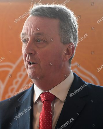 The Minister for Creative Industries Martin Foley attends a media event at Collins Place in Melbourne, Australia, 08 August 2019. Shah Rukh Khan is visiting Australia for the Indian Film Festival Melbourne.