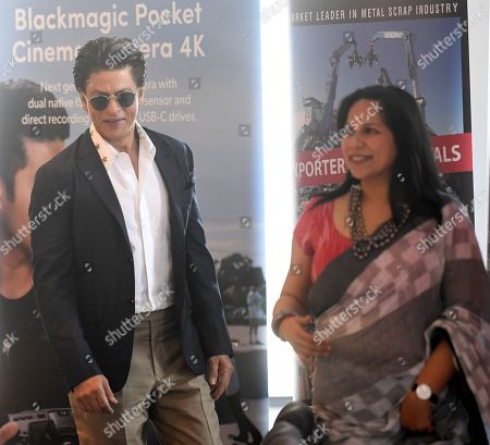 Shah Rukh Khan (L) attends a media event at Collins Place in Melbourne, Australia, 08 August 2019. Shah Rukh Khan is visiting Australia for the Indian Film Festival Melbourne.