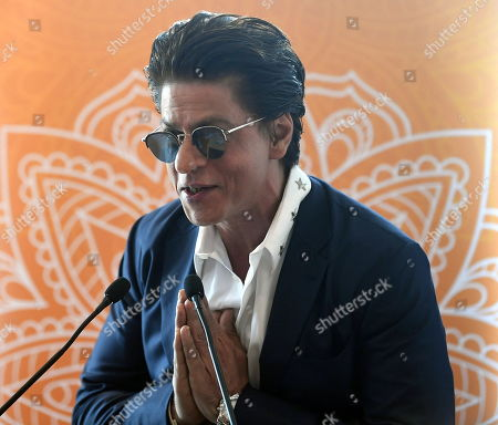 Shah Rukh Khan speaks during a media event at Collins Place in Melbourne, Australia, 08 August 2019. Shah Rukh Khan is visiting Australia for the Indian Film Festival Melbourne.