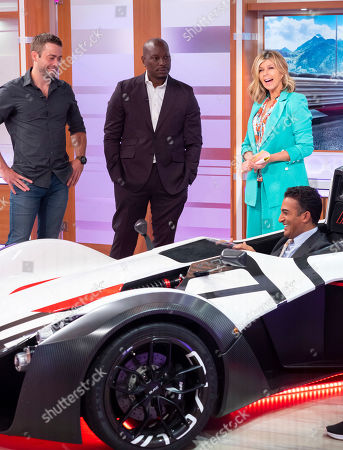 Stock Picture of Cody Walker, Tyrese Gibson and Kate Garraway