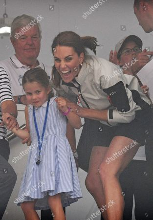 Carole Middleton, Princess Charlotte and Catherine Duchess of Cambridge