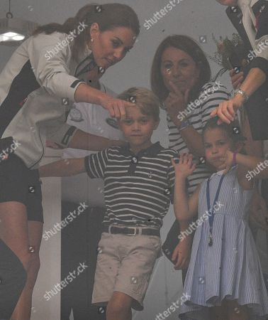 Catherine Duchess of Cambridge, Prince George and Princess Charlotte