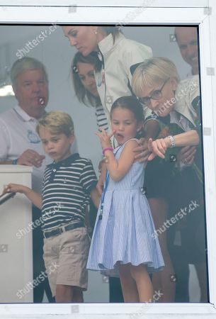 Catherine Duchess of Cambridge, Prince George, Princess Charlotte and Carole Middleton
