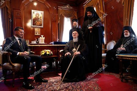 Editorial image of Ukrainian President Volodymyr Zelensky meets spiritual leader of Greek Orthodox, Istanbul, Turkey - 08 Aug 2019