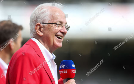 David Gower smiles during his last Lord's  Test Match for sky sports