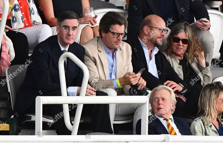 Stock Image of Jacob Rees-Mogg attends day 4 with food critic William Sitwell